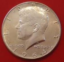 UNITED STATES Silver Coin HALF DOLLAR 1964