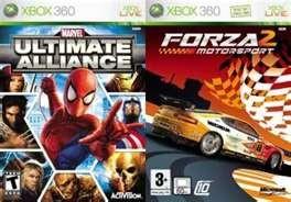 MICROSOFT Microsoft XBOX 360 Game FORZA MOTORSPORTS 2/ MARVEL ULTIMATE ALLIANCE