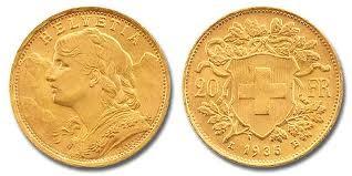 HELVETIA Gold Coin 20 FR