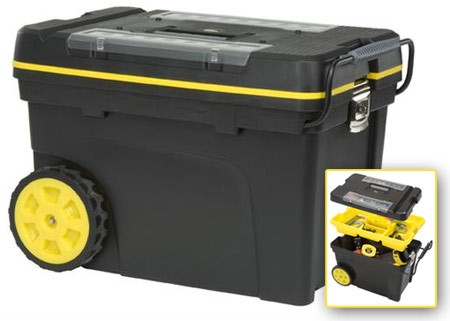 STANLEY Tool Rollaway Box TOOLBOX - DURA PLASTIC ROLLING TOOLBOX