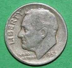 UNITED STATES Silver Coin DIME 1952