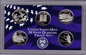 UNITED STATES Proof Set 2008 50 STATE QUARTER SET