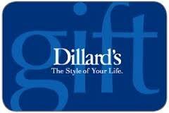 16.32 DILLARDS GIFT CARD
