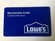 LOWES Gift Cards MERCHANDISE CREDIT Brand New