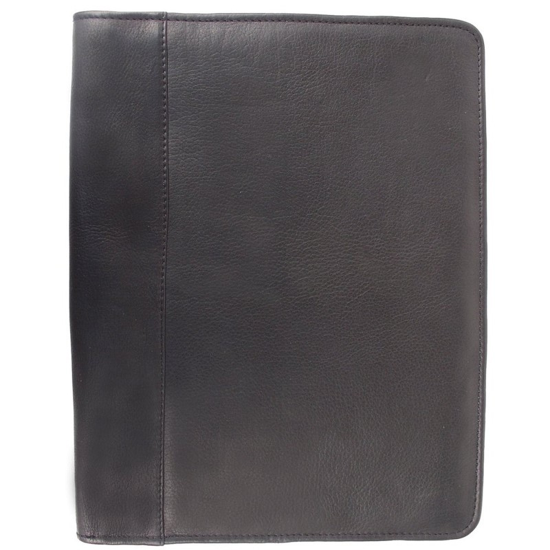PORSCHE BLACK LEATHER BRIEF/BINDER