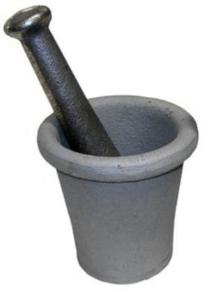 JOBE WHOLESALE Prospecting Tool 5919 CAST IRON MORTAR & PESTLE