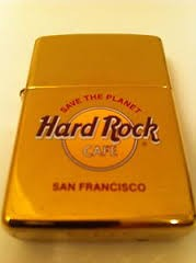 ZIPPO Lighter HARD ROCK CAFE SAN FRANCISCO BRASS