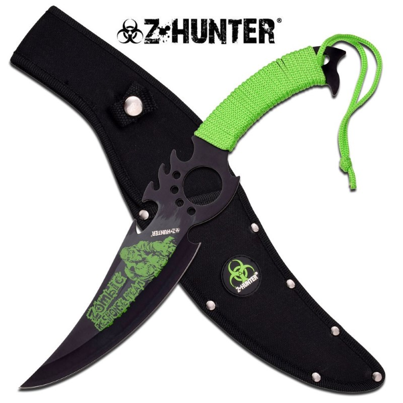 """MASTER CUTLERY Sword ZB-127 13.5"""" FXD, BLACK PAINTED S.S BLADE WITH PRINT"""