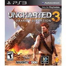 SONY Sony PlayStation 3 Game PS3 UNCHARTED 3 DRAKE'S DECEPTION