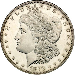 UNITED STATES Silver Coin 1879 MORGAN DOLLAR