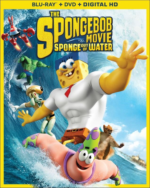 BLU-RAY MOVIE Blu-Ray THE SPONGEBOB MOVIE SPONGE OUT OF WATER
