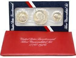UNITED STATES Proof Set BICENTENNIAL SILVER UNCIRCULATED SET