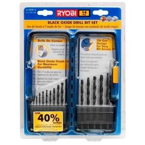 RYOBI Drill Bits/Blades 14 PIECE DRILL BIT SET