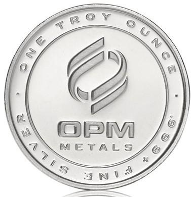 OPM Silver Bullion ONE TROY OUNCE .999 FINE SILVER