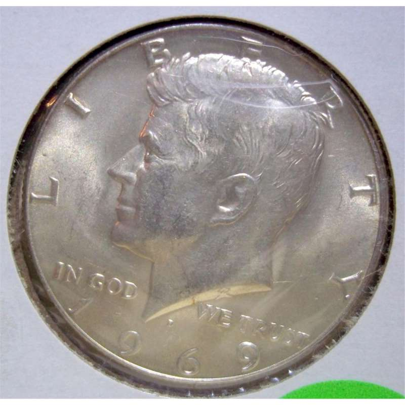 UNITED STATES Silver Coin 1969 KENNEDY HALF DOLLAR