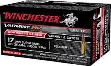 WINCHESTER Ammunition VARMINT HV 17 WIN SUPER MAG