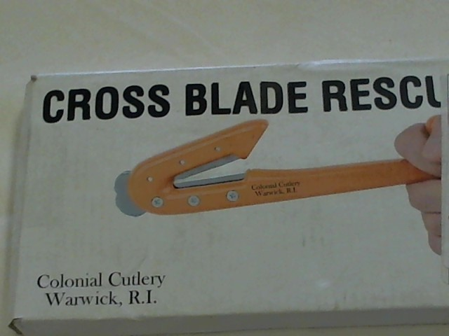 COLONIAL CUTLERY Misc Automotive Tool 6924 CROSS BLADE RESCUE TOOL
