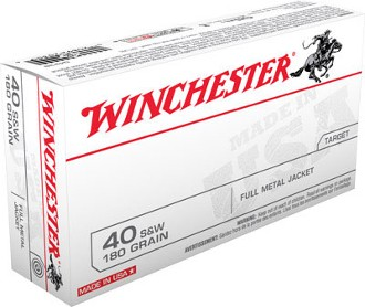 WINCHESTER Ammunition 40 S&W 180G FMJ
