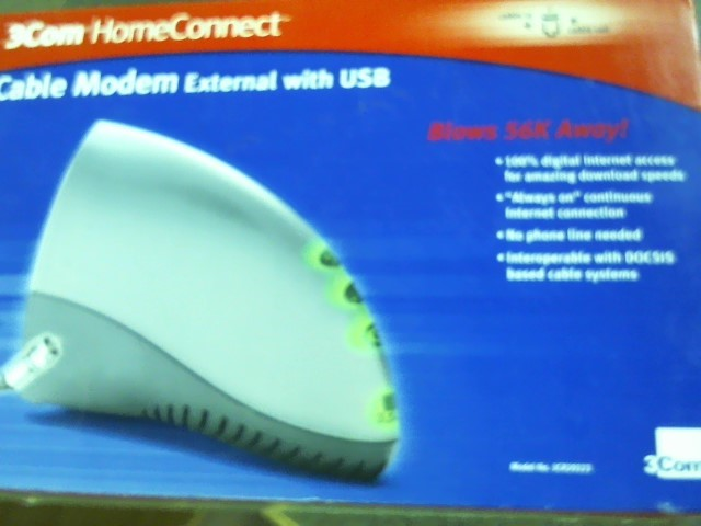 3COM HOME CONNECT Modem/Router 3CR29223