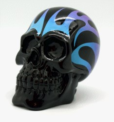 FANTASY GIFTS 2580 BLUE/PURPLE SKULL FLAME BANK