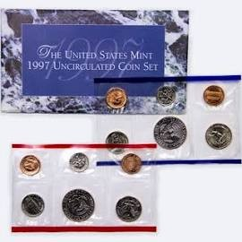 UNITED STATES  MINT 1997 UNCIRCULATED COIN SET