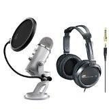 BLUE MICROPHONES Microphone YETI USB MICROPHONE SILVER EDITION BUNDLE