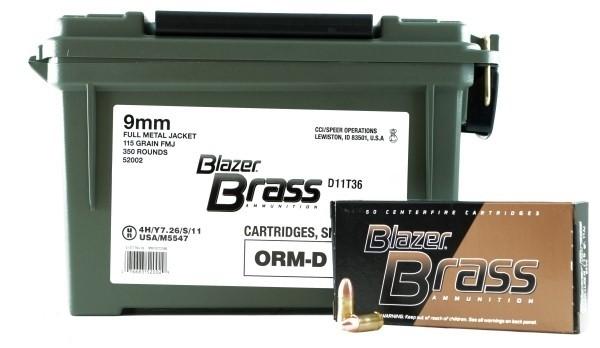 BLAZER AMMUNITION Ammunition BULK BOX - BLAZER BRASS 9MM PARA