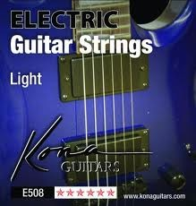KONA ELECTRIC GUITAR STRINGS LIGHT GAUGE E508