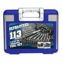 ULTRA STEEL Mixed Tool Box/Set 113 PIECE MECHANICS TOOL SET