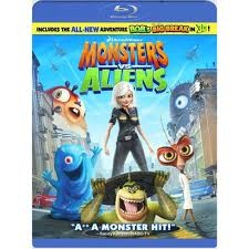 BLU-RAY MOVIE Blu-Ray MONSTERS VS ALIENS