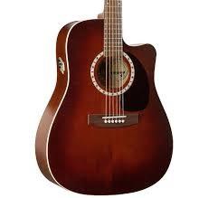 ART & LUTHERIE Electric-Acoustic Guitar CW CEDAR ANTIQUE BURST QI