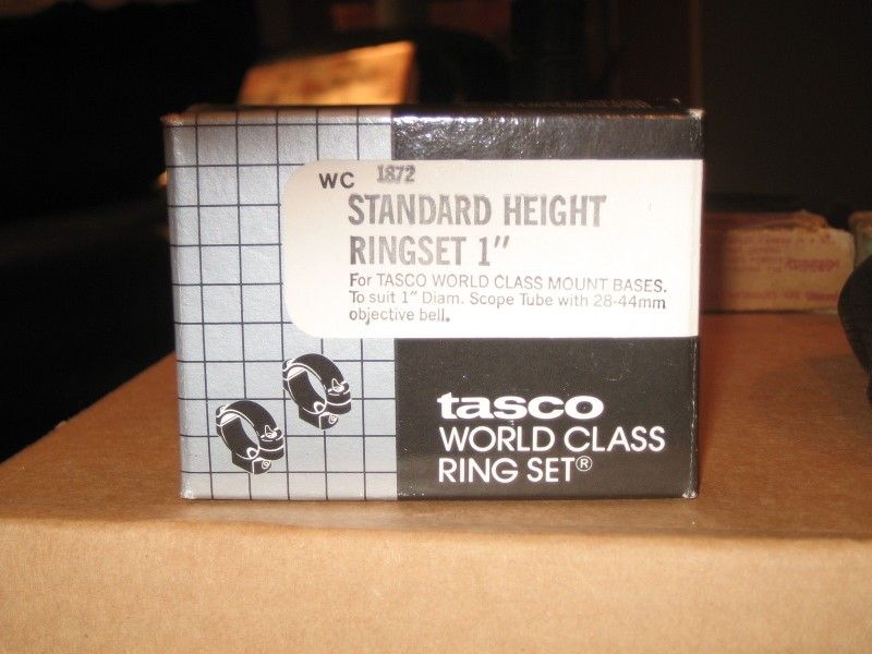 TASCO Accessories 1872 STANDARD HEIGHT RINGSET 1""