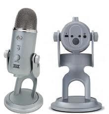 BLUE YETI USB Microphone Silver w/USB Cord