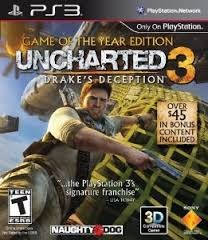 SONY Sony PlayStation 3 Game GAME OF THE YEAR EDITION UNCHARTED 3 DRAKES DECEPT