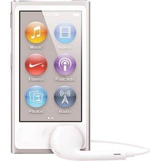 APPLE iPod Nano 16gb 7th Generation Silver MD480LL/A w/Apple Headphones