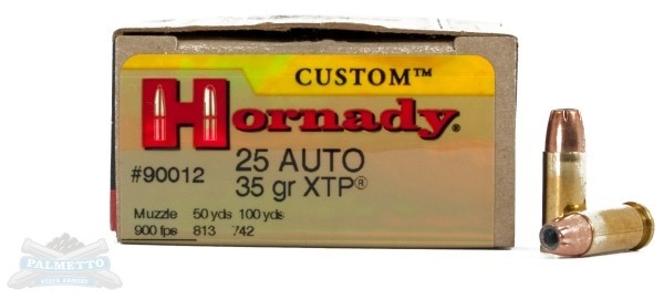 HORNADY Ammunition 25 AUTO 35GR XTP