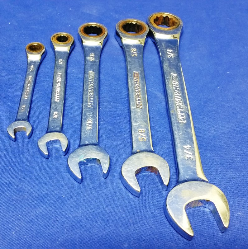 PITTSBURGH PRO RATCHETING WRENCH 5PC SET