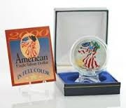 UNITED STATES Silver Coin AMERICAN EAGLE SILVER DOLLAR IN FULL COLOR