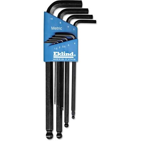 EKLIND TOOL Wrench 9 PC BALL HEX-L KEY SET METRIC