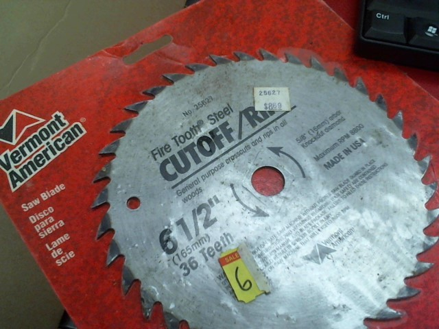 VERMONT AMERICAN 7 1/4 SAW BLADE