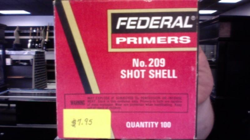 FEDERAL AMMUNITION Ammunition NO. 209 SHOTSHELL PRIMERS