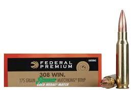 FEDERAL AMMUNITION Ammunition 308 WIN 175 GR SIERRA MATCHKING BTHP
