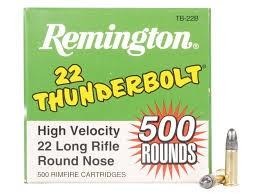 REMINGTON FIREARMS & AMMUNITION Ammunition THUNDERBOLT 22LR 500RND
