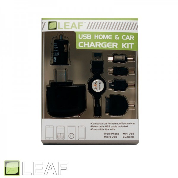 LEAF Cell Phone Accessory M05943 HOME/CAR MICRO USB CHARGER