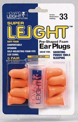 HOWARD LEIGHT Outdoor Sports SUPER LEIGHT SHOOTERS EARPLUGS