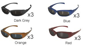 GLOBAL VISION EYEWEAR Sunglasses BAD ATTITUDE CF2 SM-ASSORTED COLORS SMOKE LENS