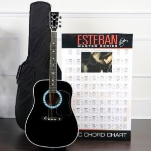 ESTEBAN MUSIC Electric-Acoustic Guitar TURQUOISE T-300