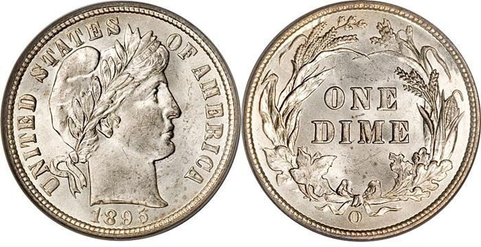 UNITED STATES Silver Coin BARBER DIME (1892 - 1916)