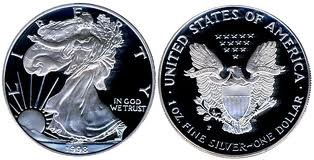 UNITED STATES Silver Coin 1998 PROOF SILVER EAGLE