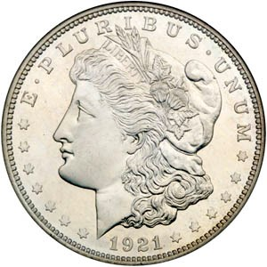UNITED STATES Silver Coin 1921 MORGAN DOLLAR
